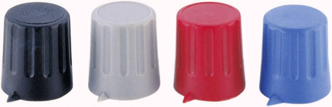 Otočný knoflík s ukazatelem Strapubox, 6 mm, červená