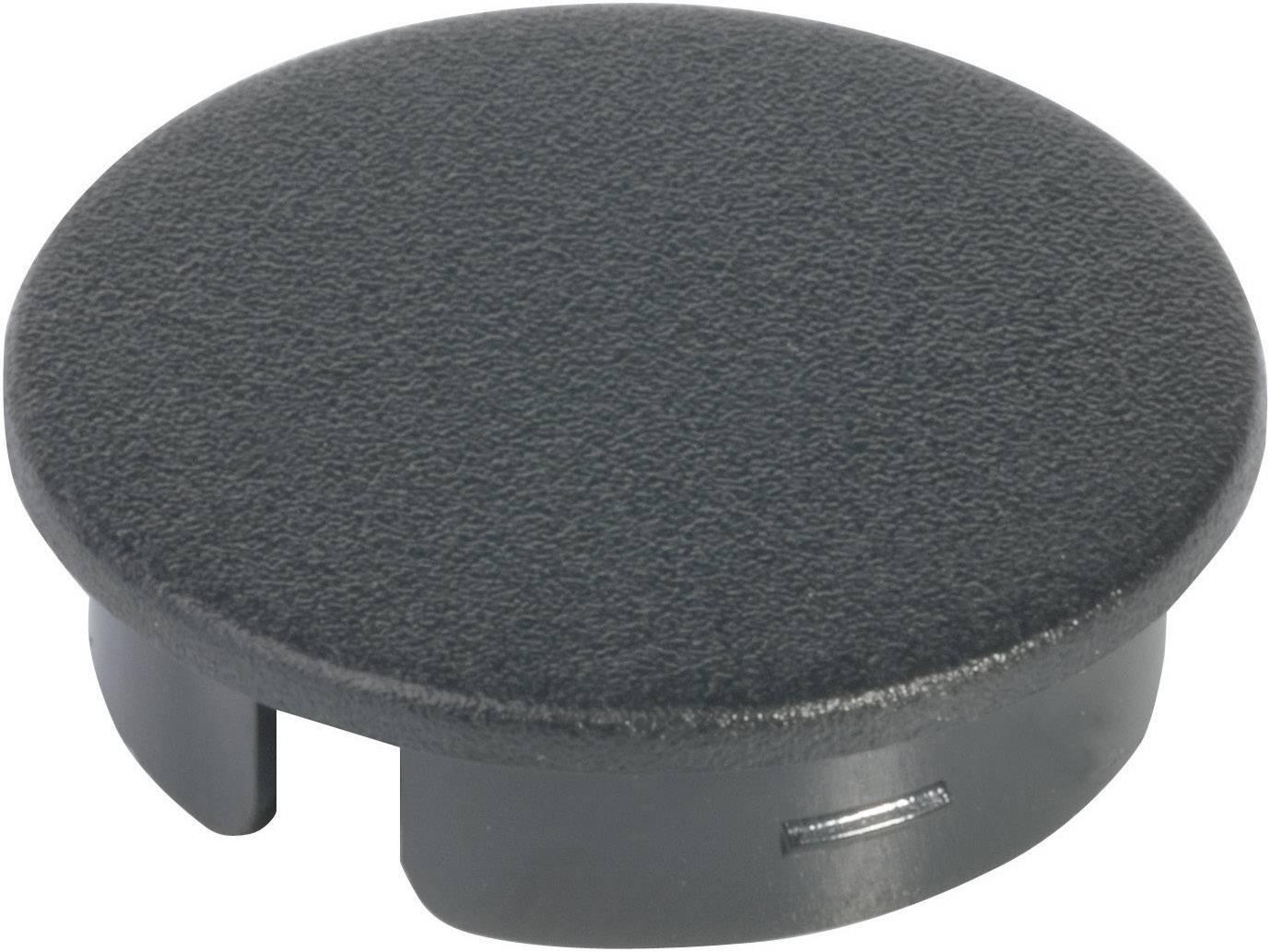 Krytka na otočný knoflík s ukazatelem OKW, pro knoflíky/O 23 mm, černá
