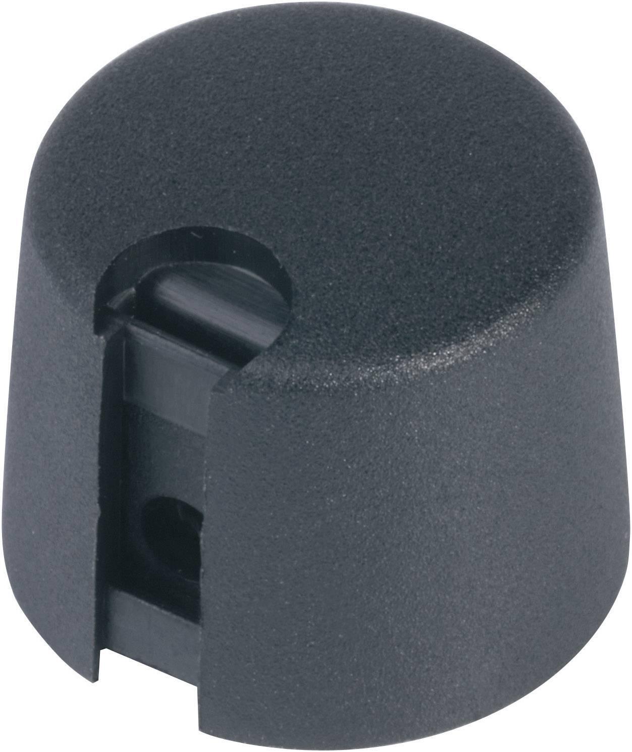 Otočný gombík OKW A1016069, (Ø x v) 16 mm x 16 mm, čierna, 1 ks