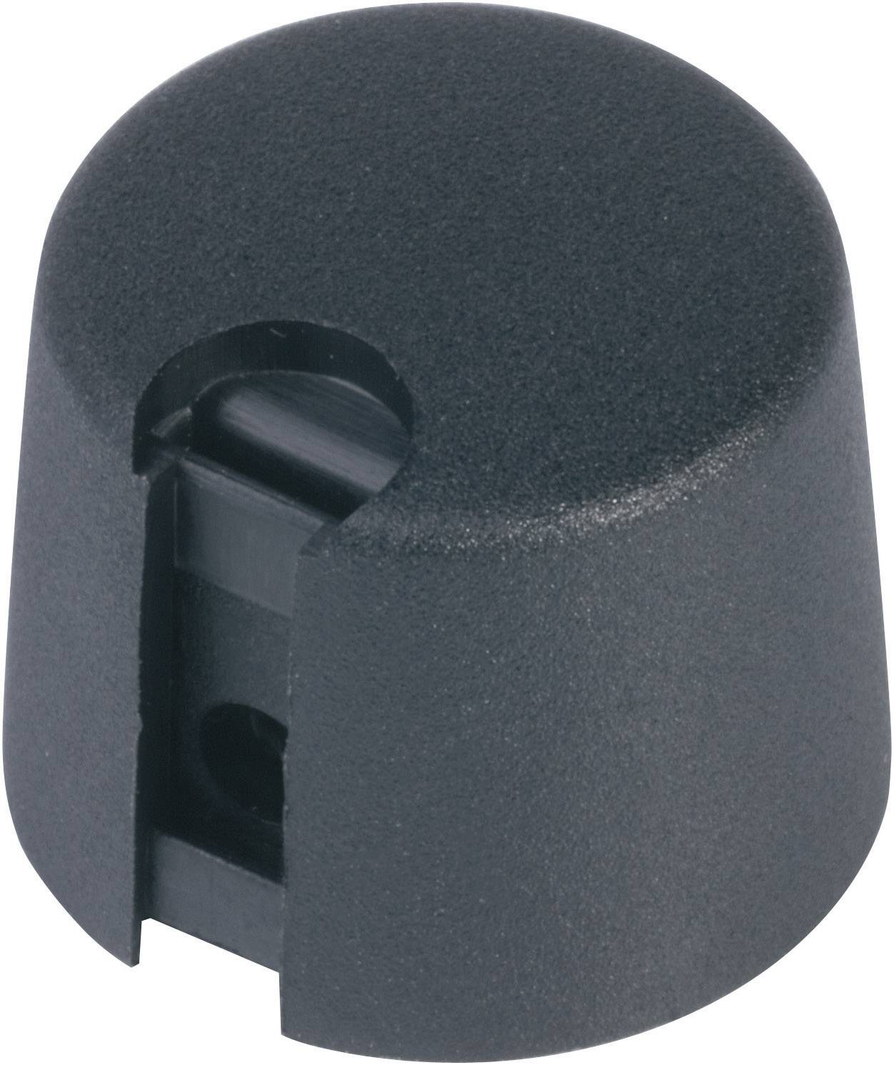 Otočný gombík OKW A1024069, (Ø x v) 24 mm x 16 mm, čierna, 1 ks