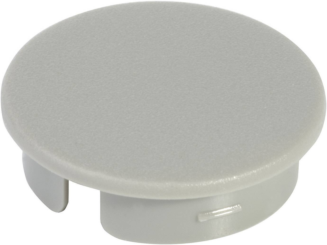 Krytka na otočný knoflík s ukazatelem OKW, pro knoflíky Ø 10 mm, šedá