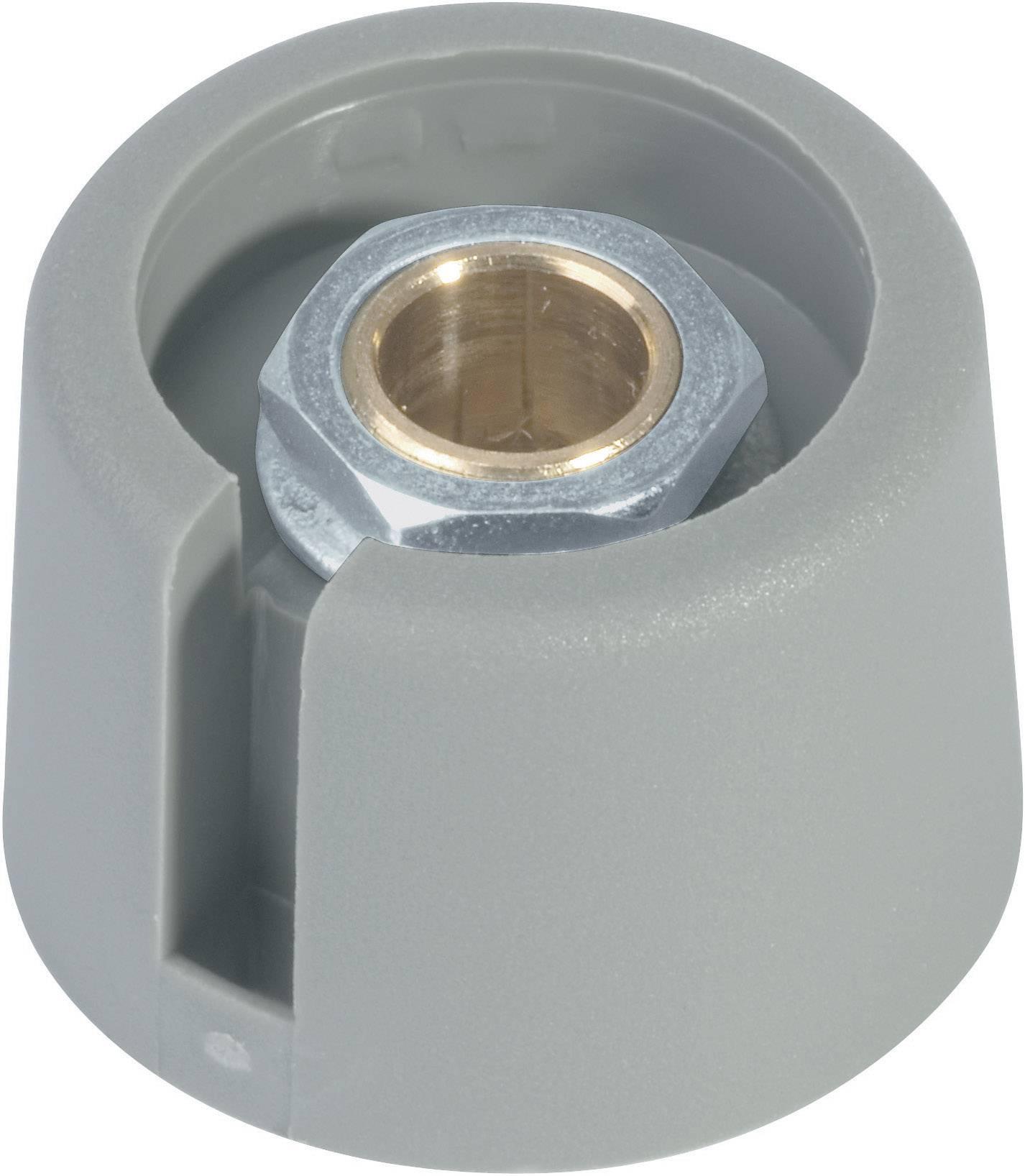 Otočný gombík OKW A3020068, (Ø x v) 20 mm x 16 mm, sivá, 1 ks