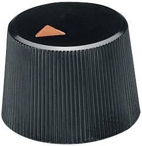 Otočný knoflík se zajišťovacím šroubem OKW, 4 mm, černá