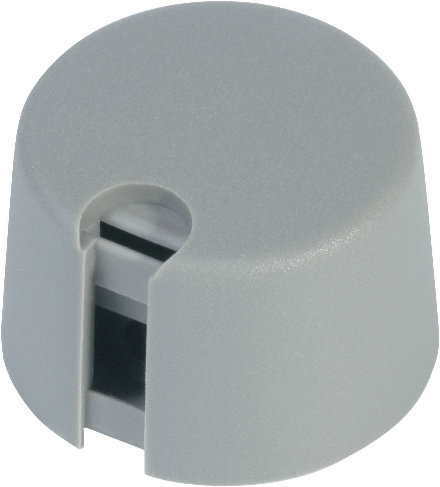 Otočný knoflík s ukazatelem (/O 13,5 mm) OKW, 6 mm, šedá