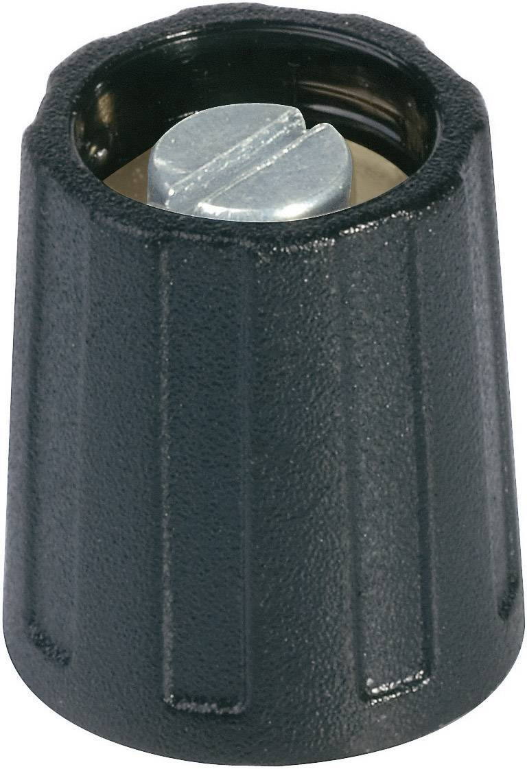 Otočný knoflík bez ukazatele (/O 13,5 mm) OKW, 6 mm, černá