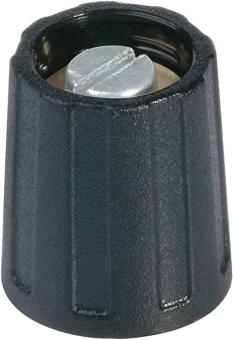 Otočný knoflík s ukazatelem (/O 10 mm) OKW, 4 mm, černá