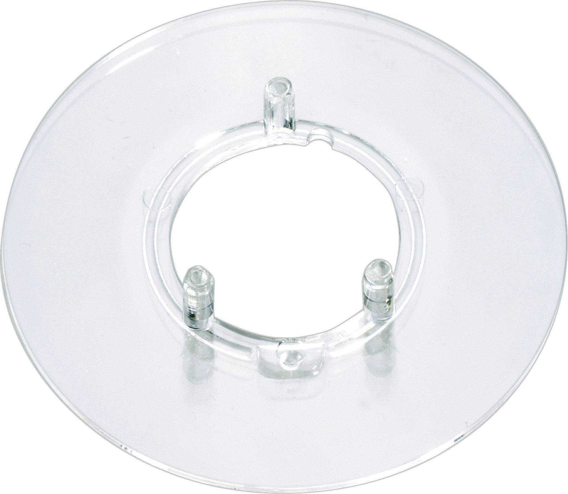 Kruhová stupnice bez označení OKW, vhodná pro knoflík Ø 10 mm, transparentní
