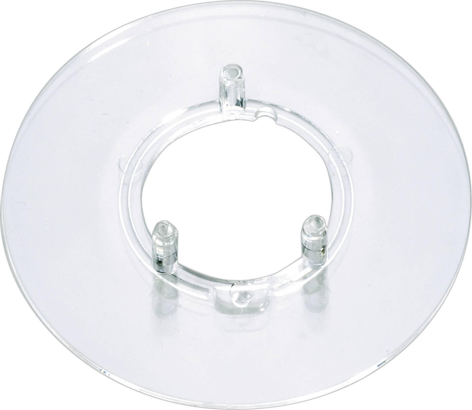Kruhová stupnice bez označení OKW, vhodná pro knoflík Ø 20 mm, transparentní