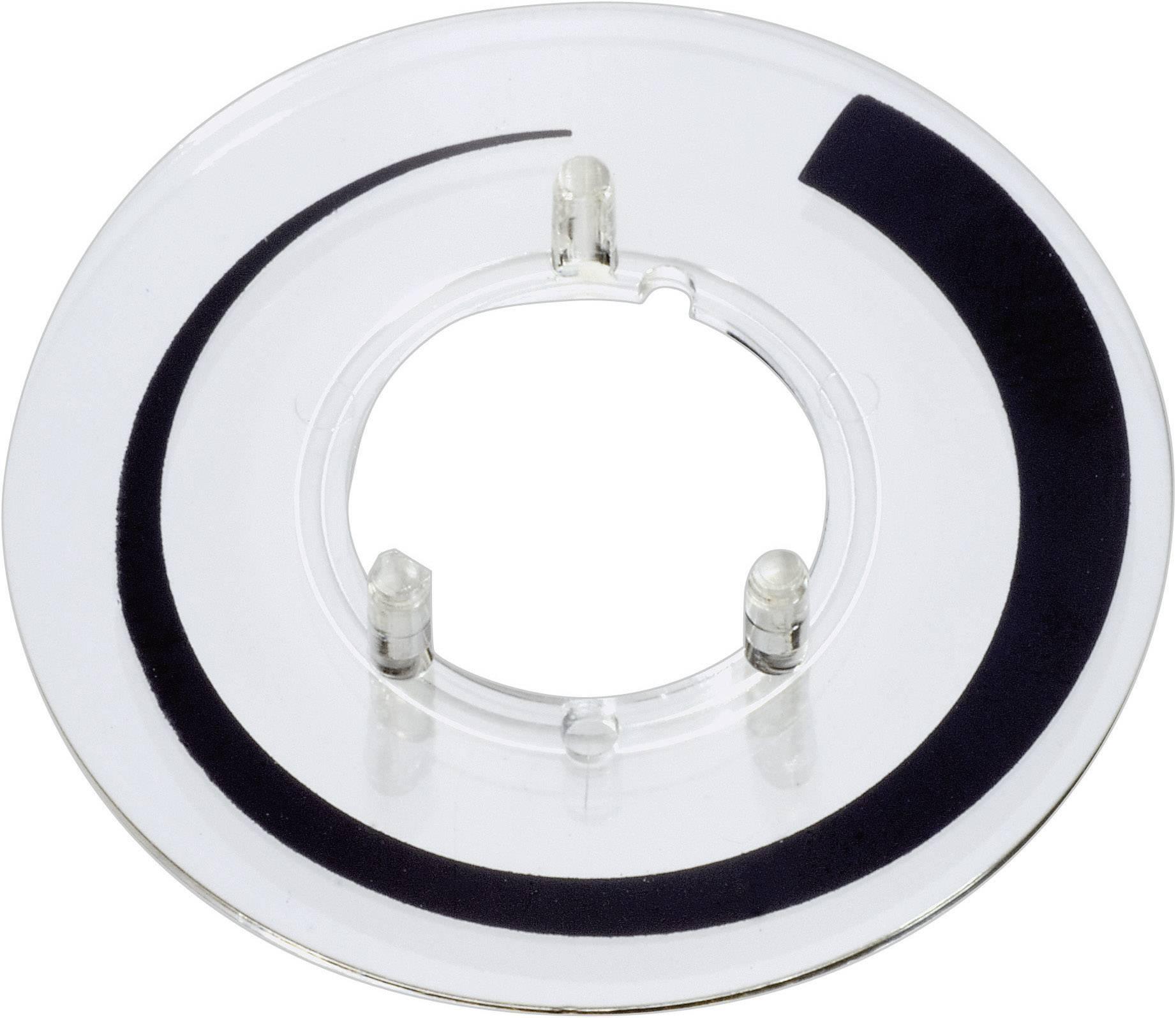 Prahová stupnice OKW, vhodná pro knoflík Ø 23 mm, transparentní OKW A4423020 1 ks