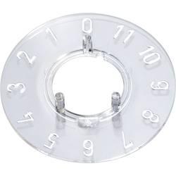 Kruhová stupnice OKW, vhodná pro knoflík Ø 13,5 mm, rozsah 0-11, transparentní