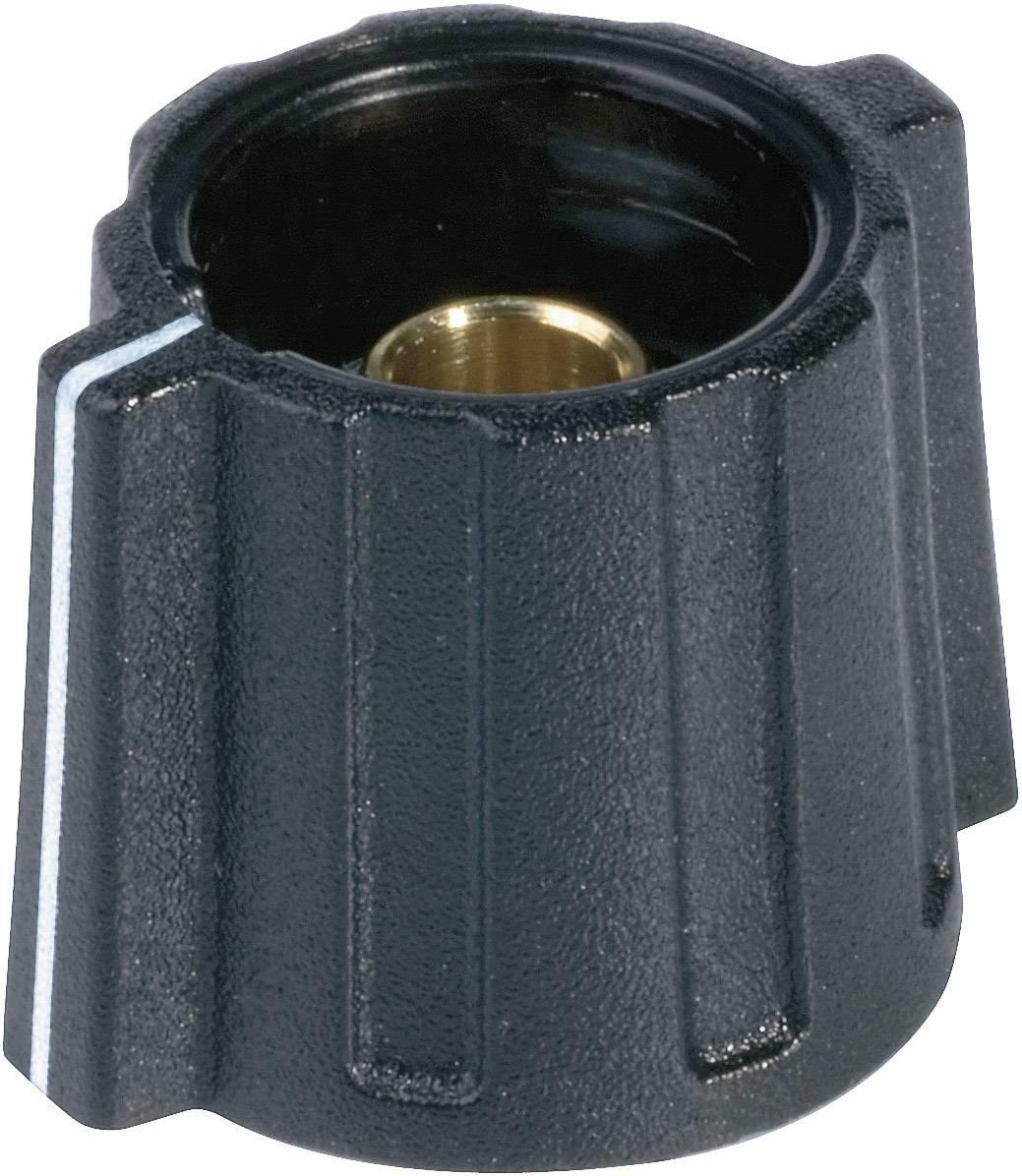 Otočný knoflík Wing (/O 16 mm) OKW, 6 mm, černá