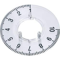 Kruhová stupnice OKW, vhodná pro knoflík Ø 31 mm,rozsah 1-10, transparentní