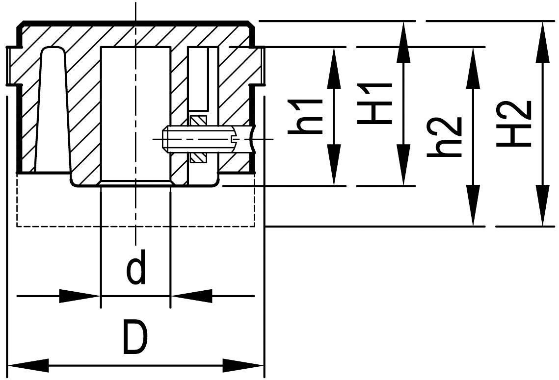 Otočný gombík OKW A1432469, (Ø x v) 31.9 mm x 14 mm, hliník, 1 ks