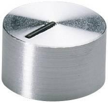 Otočný knoflík se zajišťovacím šroubem OKW, 4 mm, stříbrná