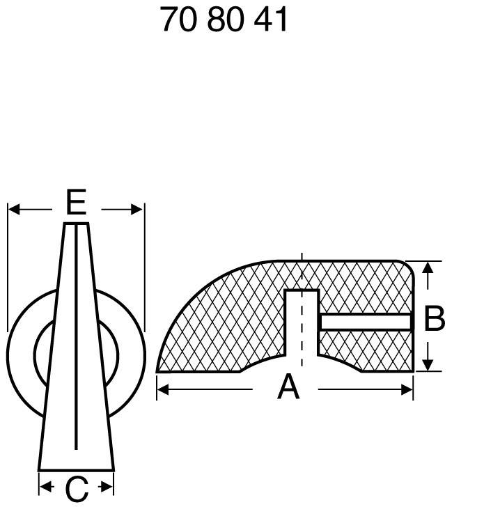 Otočný knoflík s ukazatelem, 6 mm, černá
