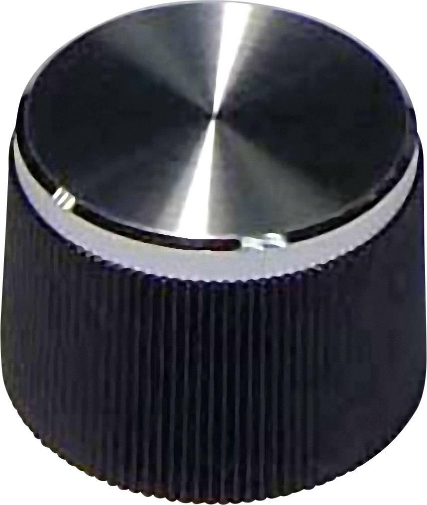 Knoflík, 4 mm, s drážkováním, černá