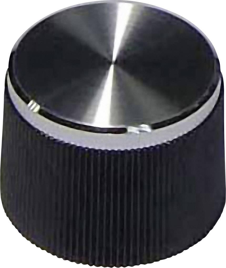 Otočný gombík 718076, (Ø x v) 21 mm x 15 mm, čierna, 1 ks