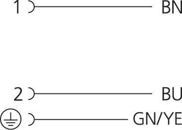Propojovací ventil Escha VA21-230.0-5/S370 (8047806), IP67 / IP69K, 5 m, černá