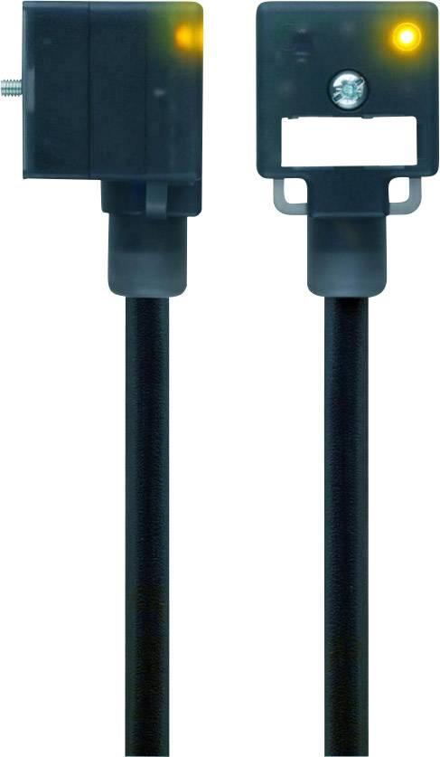 Propojovací ventil Escha VA22-24.3-5/S370 (8047804), IP67 / IP69K, 5 m, černý