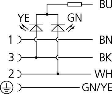 Propojovací ventil Escha VA41-24.2-5/S370 (8047805), IP67 / IP69K, 5 m, černá