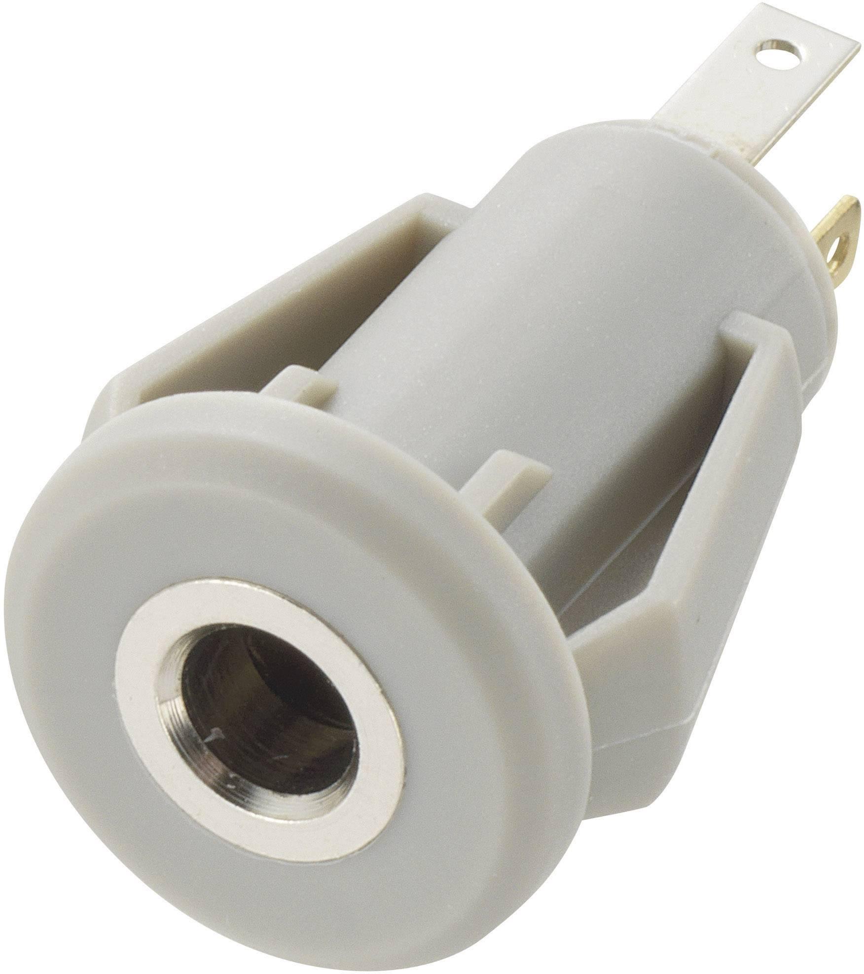 Jack konektor 3.5 mm TRU COMPONENTS 718501 zásuvka, vstavateľná vertikálna stereo, pólů 4, 1 ks
