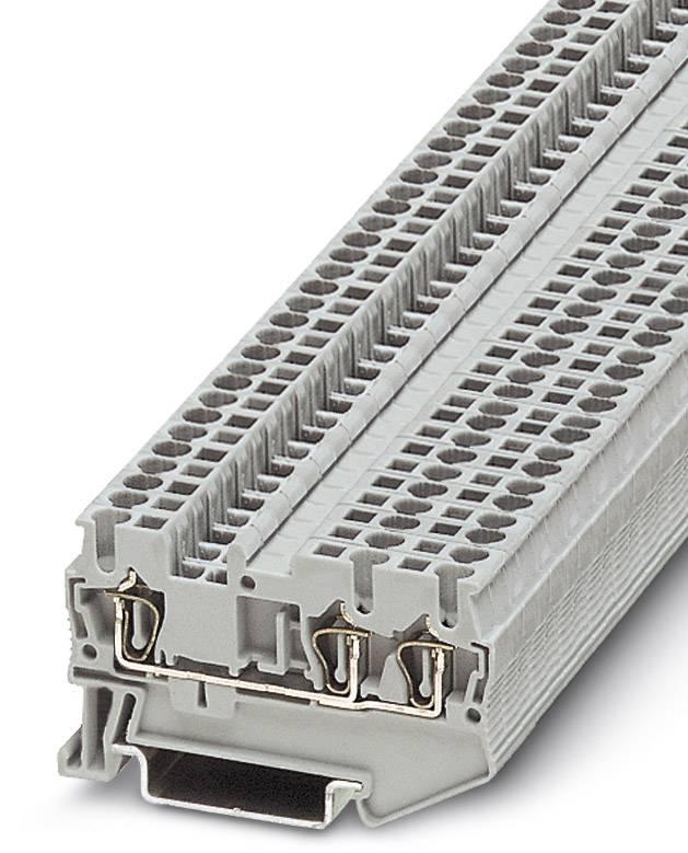 Řadová svorka průchodky Phoenix Contact ST 2,5-TWIN 3031241, 50 ks, šedá