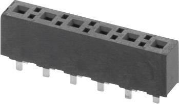 Zásuvková lišta (štandardná) W & P Products 395-02-1-50, řádky 1, kontakty na řádek 2, 1 ks