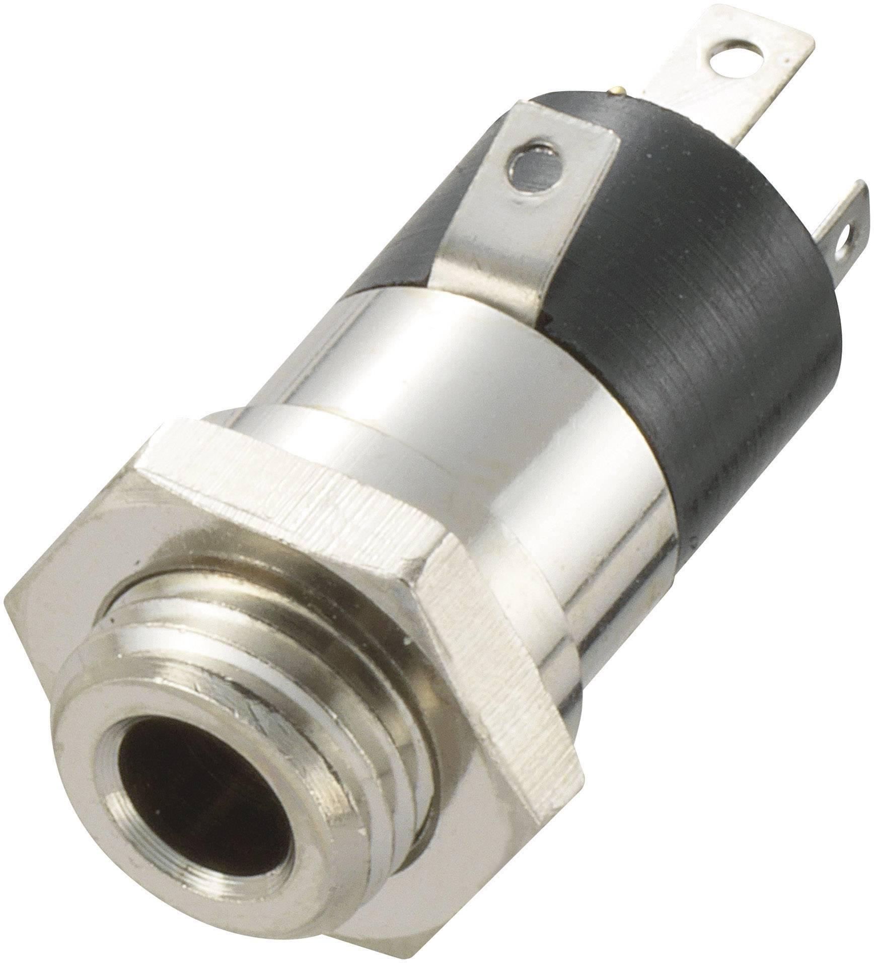 Jack konektor 3.5 mm TRU COMPONENTS 718612 zásuvka, vstavateľná vertikálna stereo, pólů 4, 1 ks