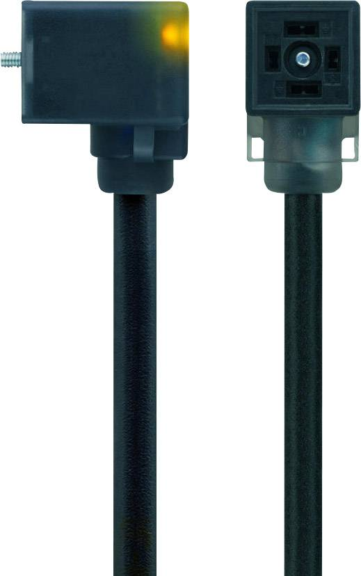 Propojovací ventil Escha VC22-24.4-5/S370 (8047816), IP67 / IP69K, 5 m, černá