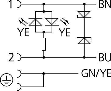 Propojovací ventil Escha VC22-24.4-5/P01 (8047834), IP67 / IP69K, 5 m, černá