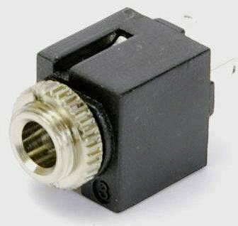 Jack konektor 3.5 mm stereo zásuvka, vstavateľná vertikálna Conrad Components počet pinov: 3, čierna, 1 ks