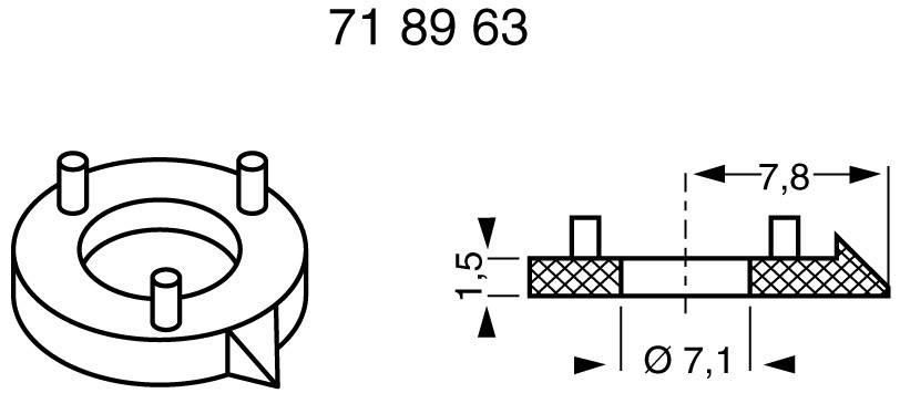 Ukazatel Mentor 330.100, pro sérii 11,5, černá