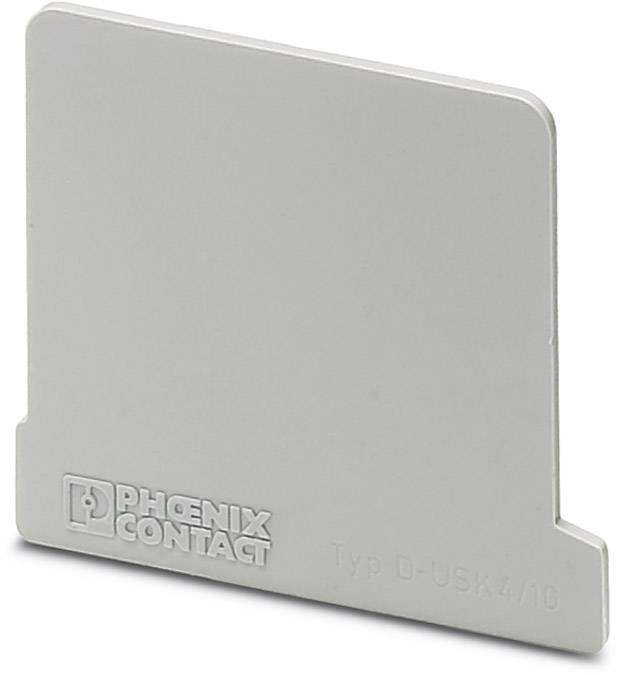 End cover D-USK 4/10 Phoenix Contact D-USK 4/10 0260028, 50 ks