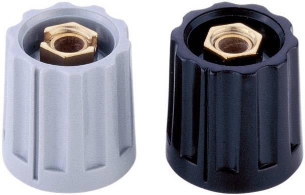Otočný knoflík s kleštinovým uchycením Mentor 331.6, pro sérii 11,5, 6 mm, černá