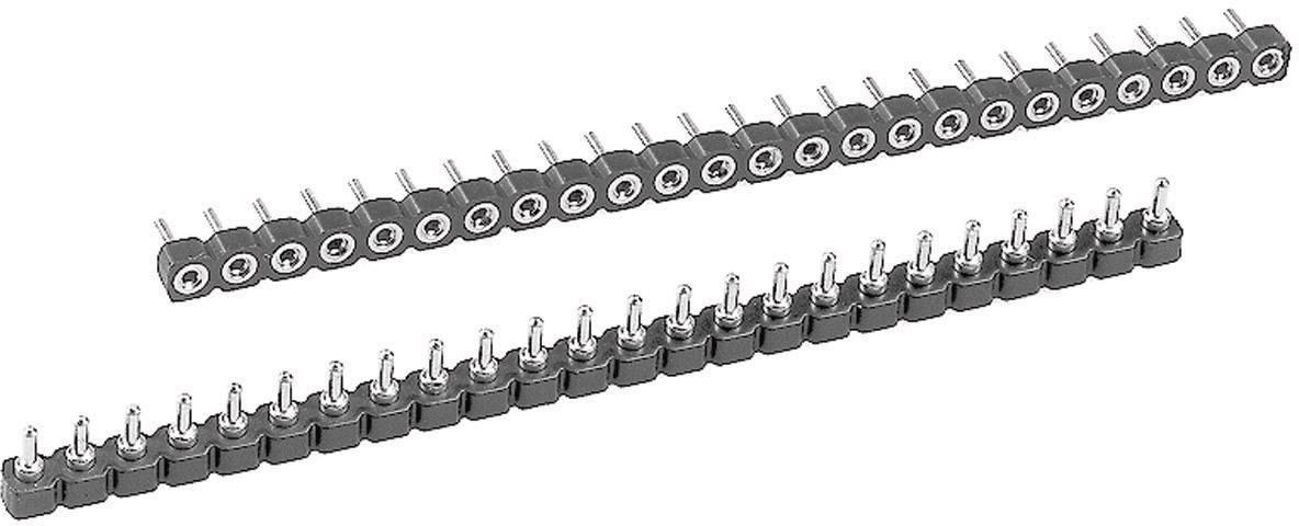 Zásuvková lišta IC W & P Products 186-02-1-50-00 2.54 mm, pólů 2, 1 ks