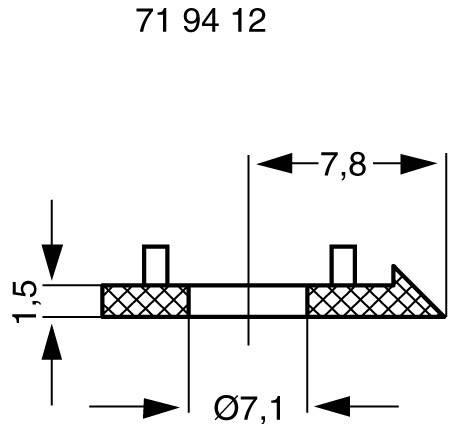 Ukazatel Mentor 331.100, pro sérii 15, černá