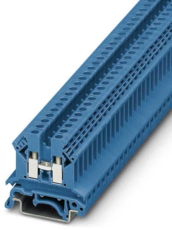 Průchodková svorka Phoenix Contact UK 2,5 B BU 3001048, 50 ks, modrá