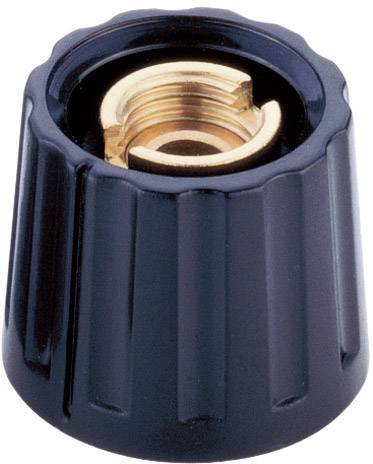 Otočný gombík Mentor 333.6, (Ø x v) 28 mm x 17 mm, čierna, 1 ks