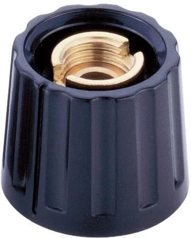 Otočný knoflík s kleštinovým uchycením Mentor 332.6, pro sérii 20, 6 mm, černá