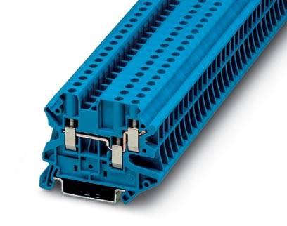 Řadová svorka průchodky Phoenix Contact UT 4-TWIN BU 3044500, 50 ks, modrá