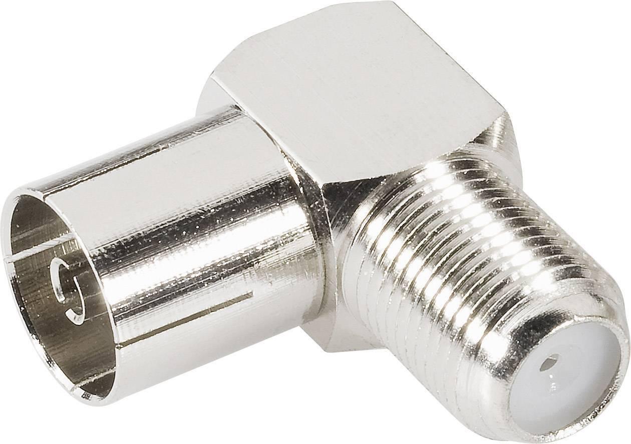 Koaxiálny adaptér koaxiálna zásuvka - F zásuvka BKL Electronic 0403137, 1 ks