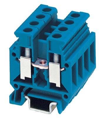 Řadová svorka průchodky Phoenix Contact MBK 5/E-Z BU 1402982, 50 ks, modrá