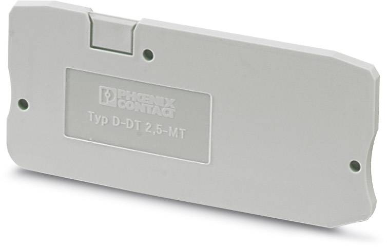 End cover D-DT 2,5-MT Phoenix Contact D-DT 2,5-MT 3054396, 50 ks
