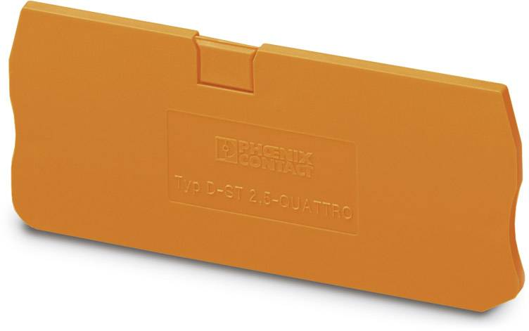 End cover D-ST 2,5-QUATTRO OG Phoenix Contact D-ST 2,5-QUATTRO OG 3037737, 50 ks