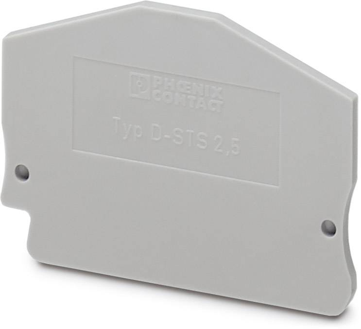 End cover D-STS 2,5 Phoenix Contact D-STS 2,5 3031762, 50 ks
