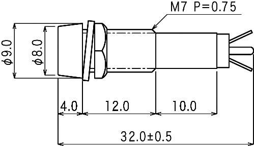 Neonová signalizační světla s integrovaným předřadným odpor