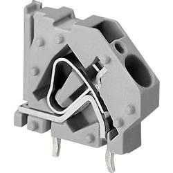 Pružinová svorka WAGO 745-831, 6.00 mm², Počet pinov 1, sivá, 1 ks