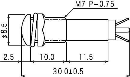 Sedeco B-405 24V TRANSPARE, číra, 1 ks