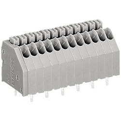 Pájecí svorkovnice série 250 WAGO 250-405, AWG 24-20, 0,4 - 0,8 mm², 2,5 mm, 2 A, šedá