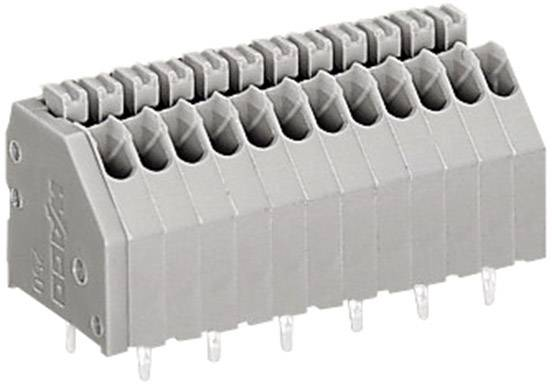 Pružinová svorka WAGO 250-405, 0.50 mm², Počet pinov 5, sivá, 1 ks